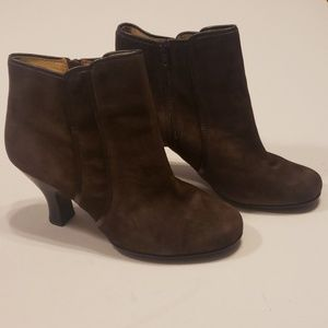 Sofft Brown Leather Booties